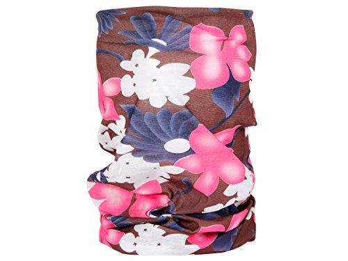Alsino Multifunktionstuch Schlauchtuch Halstuch Multischal Multiscarf alle Farben, Variante wählen:MF-189 Blumen braun pink