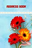 Address book: Password book with alphabetical tabs : Book organizer To Protect Username & sign in / Flower Lover