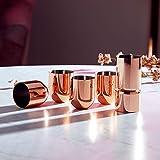 Beautify Schnapsgläser, Rotgold, bruchsicherer Edelstahl, mit doppelseitigem Messbecher,  4 Stück - 4