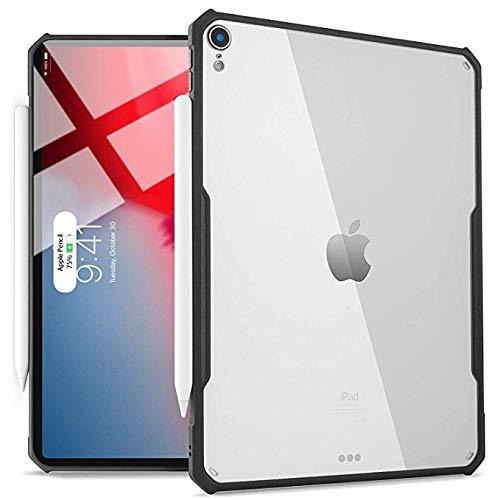 Aidashine Case voor 2018 iPad Pro 12.9-inch (2018 Release), Ondersteunt Apple Potlood Draadloos opladen, Ultra-Slim Clear Cover, Flexibele TPU Lichtgewicht Case, Houten Stand