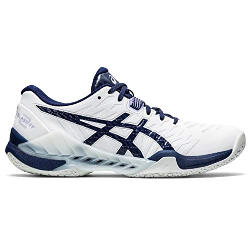 ASICS Womens Blast FF Handball Shoe, White/Peacoat, 40 EU