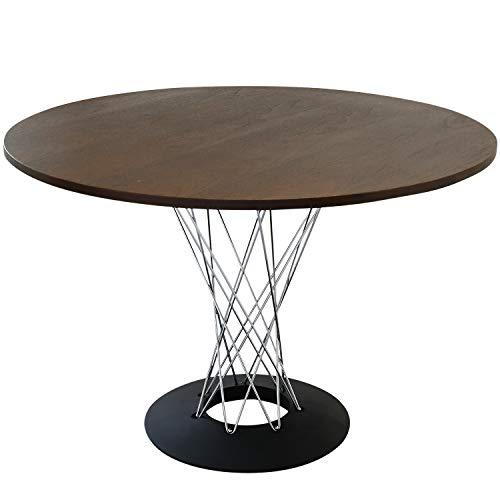イサムノグチ サイクロンテーブル 110Φ 天板ダークウォールナット 丸テーブル ダイニングテーブル コーヒーテーブル isamu noguchi