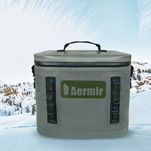 WLAY Draagbare ijszak voor in de auto, 20 liter, draadloos, voor in de koelkast, outdoor, ijszak, thermostaat, incubator, medicijnen, waterdichte tas, donkergrijs