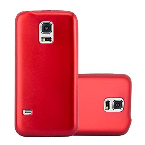 Cadorabo Hülle für Samsung Galaxy S5 / S5 NEO in METALLIC ROT - Handyhülle aus flexiblem TPU Silikon - Silikonhülle Schutzhülle Ultra Slim Soft Back Cover Case Bumper