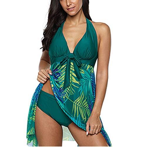 Costume da Bagno Donna Sweet Push Up Costumi da Bagno Colorato Modellante Percorso del Ventre Costume Intero Fantasia Floreale Pantaloncini Bikini Sexy Elegante Spiaggia retrò Swimsuit 5XL