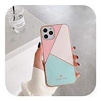 Jinyy iPhone 12 mini Pro Max / 11 Pro Max XS XR X 78Plusマカロンカラーマッチングソフトシリコンカラフルかわいいケース用耐衝撃ケース-1-For iphone xs max