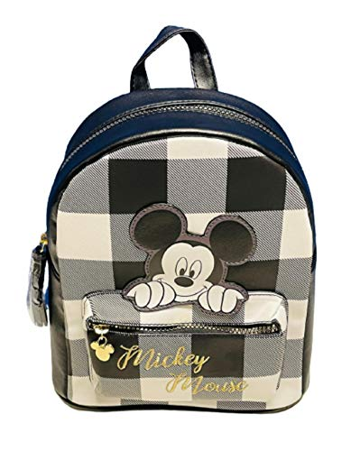 Disney Mickey Mouse Backpack Black & White Rucksack School Bag