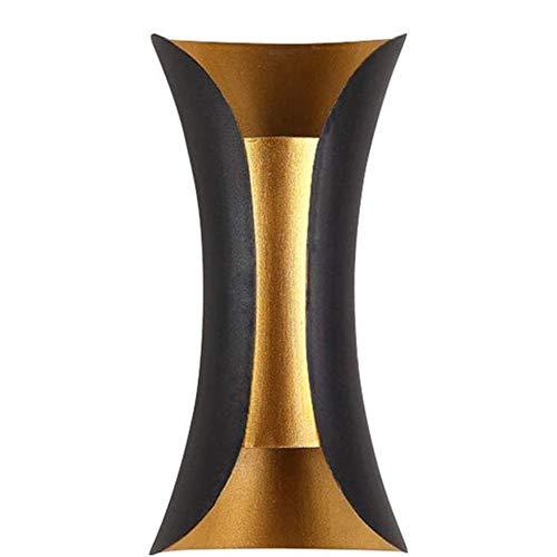 LED Wall Light Binnen Buiten Modern Sconces Black Gold Aluminium Outdoor Lampen Up Down Outdoor Wandlamp Waterdichte,Black