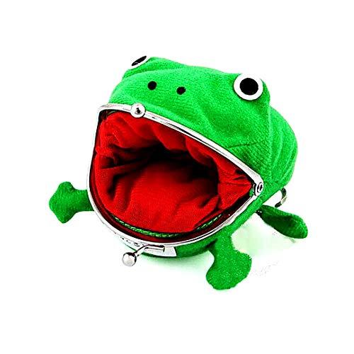 Netter grüner Frosch-Münzen-Beutel Cosplay Props Plüsch-Spielzeug-Geldbeutel-Mappe für Naruto-Liebhaber und Cosplay