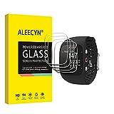 [4 unidades] Aleecyn Cristal blindado compatible con Polar M400 / M430, protector de pantalla, antiburbujas, protector de pantalla completo para Polar M400 / M430