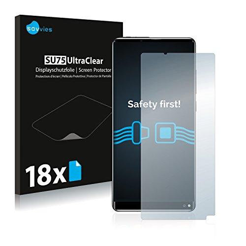 Savvies 18x Schutzfolie kompatibel mit Oukitel Mix 2 Bildschirmschutz-Folie Ultra-transparent