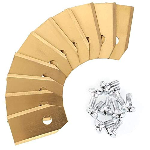 30x Titan Messer Klingen LONGLIFE für alle Husqvarna® Automower® / Gardena Mähroboter - (3g - 0,75mm) inkl. 30 Schrauben - für 105, 310, r40i uvm