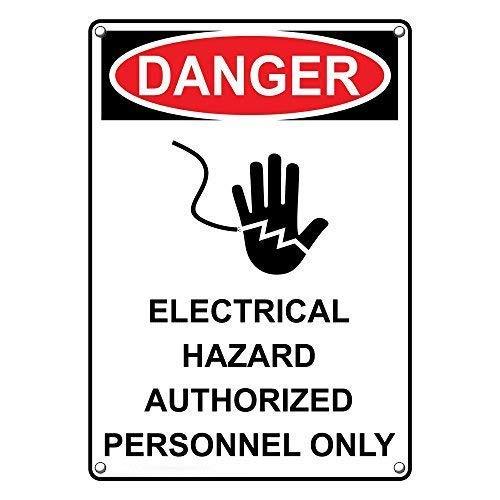 IUBBKI Cartel de metal de gran aluminio de estaño con peligro eléctrico...