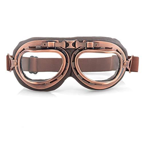 evomosa Gafas de moto Retro a prueba de viento a prueba de polvo Gafas de motocicleta Gafas protectoras (T Color)