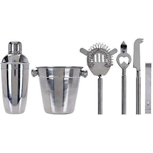 EH Excellent Houseware - Set da cocktail con shaker e radiatore, 6 pezzi