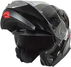 Bilt Evolution Flip Up Drop Down Sun Shield Vented DOT Sport Adventure Touring Bike Street Motorcycle Modular Helmet - Black XL