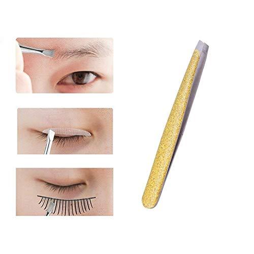 OUTANG Pinzette Augenbrauen Augenbrauenpinzette Schminkprodukte Professional Pinzette für das Gesichtshaar Augenbrauenprodukte Gold