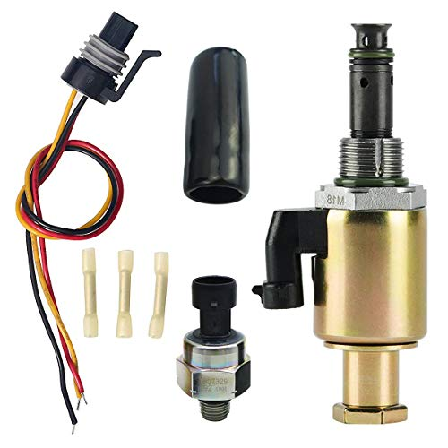 7.3L Fuel Injection Pressure Regulator Sensor, IPR Valve & ICP Control with Electrical Connector Pigtail Wire Harness Sensor for Ford F-250 F-350 F-450 F-550 F-650 F-750 E-350 E-450 E-550, 1829856C91