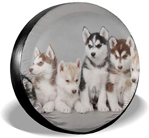 MODORSAN Animals Dogs Husky - Cubierta de neumático de Rueda de Repuesto de poliéster, Cubiertas de Rueda universales para Jeep, Remolque, RV, SUV, camión, Accesorios, 14 Pulgadas