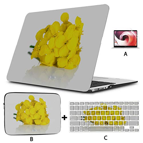 Macbook Cover 13 Inch Colorful Rape Flower Road Macbook Accessories 13 Inch Hard Shell Mac Air 11'/13' Pro 13'/15'/16' With Notebook Sleeve Bag For Macbook 2008-2020 Version
