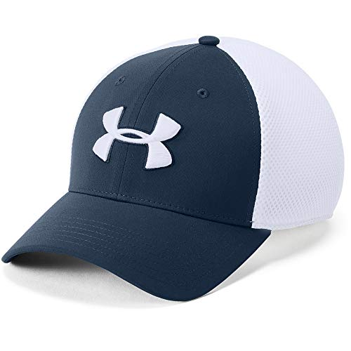 Under Armour Men's Microthread Golf Mesh Cap, Academy (408)/White, Large/X-Large
