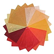 NAVA CHIANGMAI Thin Standard Color of Mulberry Paper Sheets Paper Decorative DIY Craft Scrapbook Wedding Decorative Mulberry Paper Art Tissue Japan (Red Tone)