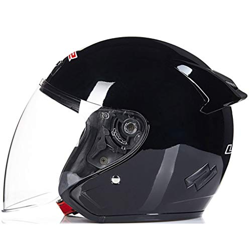 ZHOU.D.1 Casco de Motocicleta: Casco de Seguridad for Adultos Ajustable for Ciclismo...