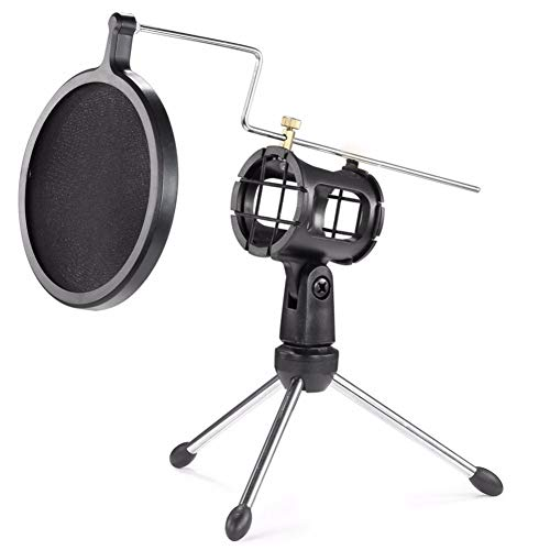 Soporte para micrófono Xcellent Global con filtro de doble capa