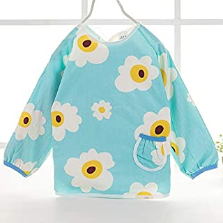 0-4 Years Old Baby Waterproof Gown Children Cotton Anti-dressing Cartoon Baby Long-sleeved Eating Clothes Bib Unisex Baby ...
