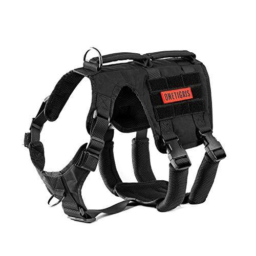 OneTigris Gladiator Support Dog Harness, Comfortable Non-Slide & No Pull Pet Lifting Rehabilitation Vest (Black, Large)