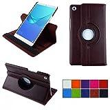 COOVY® 2.0 Cover für Huawei MediaPad M5 8.4 Rotation 360° Smart Hülle Tasche Etui Hülle Schutz Ständer Auto Sleep/Wake up | braun