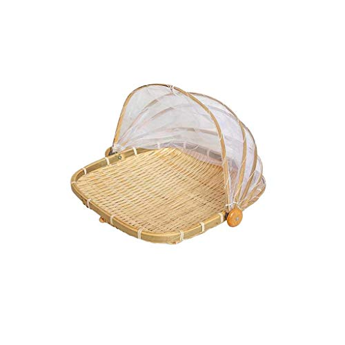 Gauze Insect-Proof  Hand-Woven Food Basket Net Yarn Basket with Gauze Insect-Proof Drying Basket Home & Garden Kitchen,Dining & Bar Christmas for Faclot