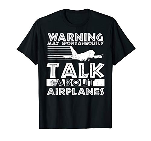 Warning Talk About Airplanes design, Aviation gift, Mechanic T-Shirt