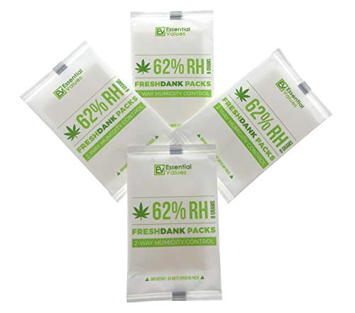 FreshDank 62-Percent RH Humidity Packs (10 Pack at 8 Grams), Best 2-Way Control That Keeps Your Product Fresher for Longer by Essential Values