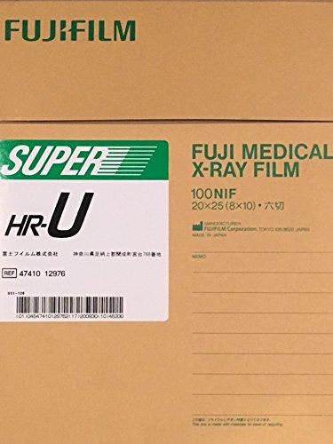 Fuji Super HR-T Medium Speed Green 8x10 X-Ray Film
