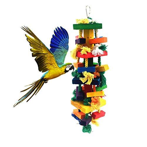 Pywee Juguetes para Loros Grandes: Juguetes para Masticar Naturales para pájaros Grandes Recomendado para macaca cokatoos, Gris Africano y una Variedad de Loros Grandes del Amazonas