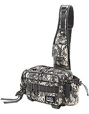 Schlegel フィッシングバッグ ワンショルダーバッグ 釣りバッグ 大容量 防水 撥水 多機能 タックルバッグ ランガンバッグ 着脱可能なウエストベルト シュレーゲル