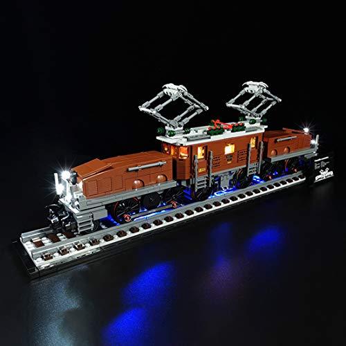 FADF - Set di luci a LED per locomotiva a coccodrillo Lego 10277 (modello Lego non incluso)