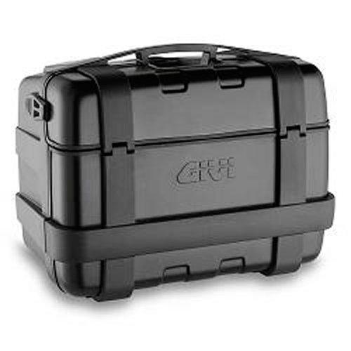 Givi TRK46B Trekker 46-Monokey Baúl con Cover de Aluminio, Color Negro, Carga Máxima 10 Kg