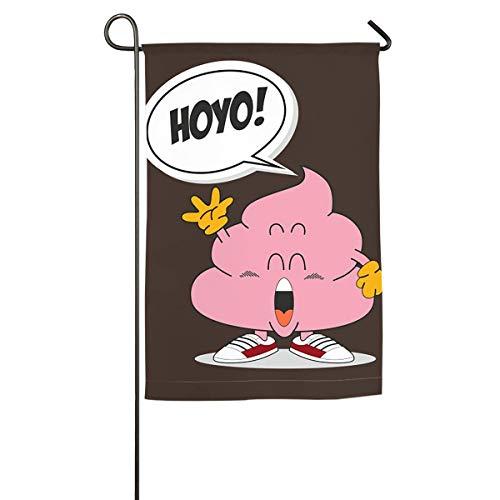 ONGH Poop Arale Floral Garden Yard Flag Banner-Best para Fiesta y decoración