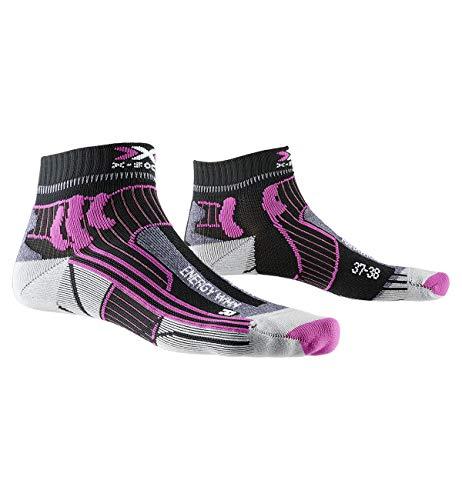X-Socks Marathon Energy Women Socks, Unisex Adulto, Opal Black/Flamingo Pink, 39-40