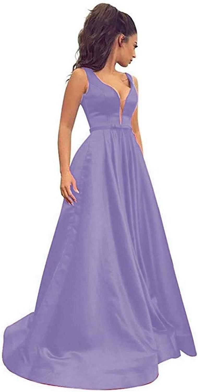 CiONE Sexy Formal Evening Dresses for Women Satin Wedding Dress Long Prom Dresses