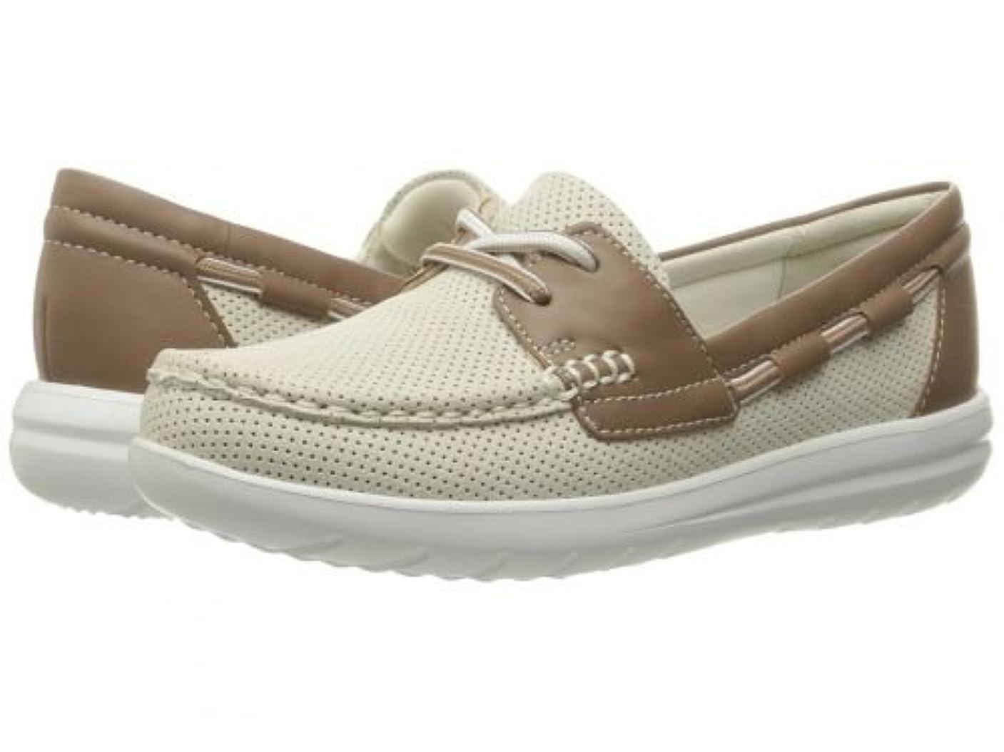 ハンマー付き添い人そこからClarks(クラークス) レディース 女性用 シューズ 靴 ボートシューズ Jocolin Vista - Off-White [並行輸入品]