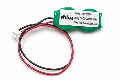 vhbw Batterie Bios Ni-MH 20mAh (2.4V) Notebook Laptop Toshiba Tecra R10-S4401, Tecra R10-S4402, Tecra R10-S4411, Tecra S3, Tecra S3-S411TD