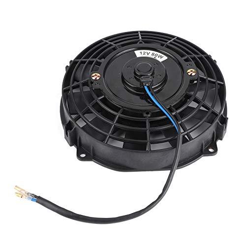 Jopwkuin Ventola per condizionatore d'Aria per Auto, plastica ABS + Ferro 12V 80W 10 Pale addensate Ventola elettrica Universale per Auto