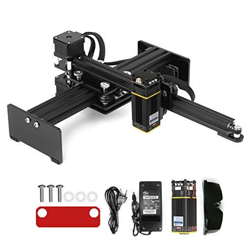 KKmoon Mini Incisore macchina, Stampante per marchi fai-da-te Incisione Ultrarapida di Acciaio inossidabile e metallo ossidato Area di Lavoro 170 * 200 mm
