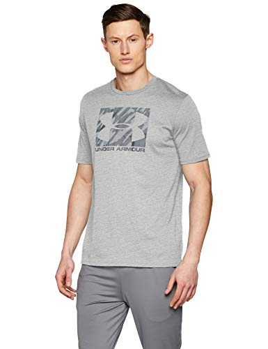 Under Armour - Boxed Sport Style - T-Shirt - Homme - Gris (Steel Light Heather/Anthracite/Black 036) - FR: M (Taille Fabricant: MD)