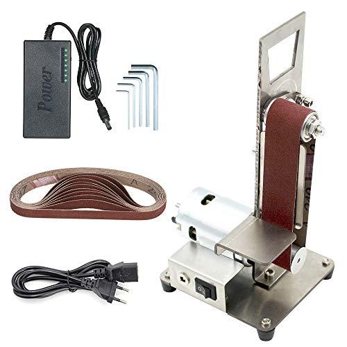 KKmoon Bandschuurmachine, verticale mini schuurmachine, slijper, zandbaanmachine, kleine DIY polijstmachine 775 Motor