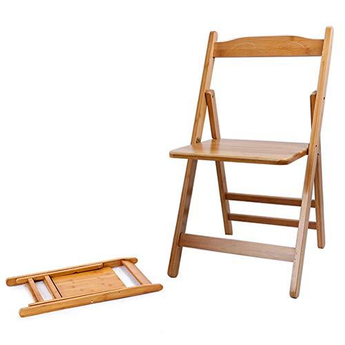 无 Klappstühle aus Holz, tragbarer Klapprückenlehnenstuhl aus Bambus zu Hause, Sitzgelegenheiten für Garten-Terrassenmöbel im Freien, Zwei Größenoptionen