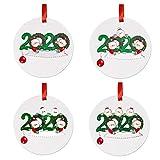 FUTN Personalizada 1-7 Miembros de la Familia del árbol de Navidad Ornamentos Colgantes Fiesta de Navidad Decoración de cuarentena Regalo for Las Vacaciones de Boda (Color : C, Size : Set)